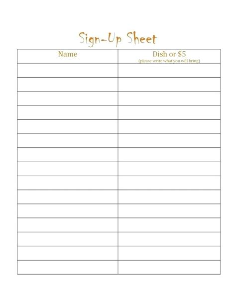 editable sign in sheet template editable printable sign up sheet template free
