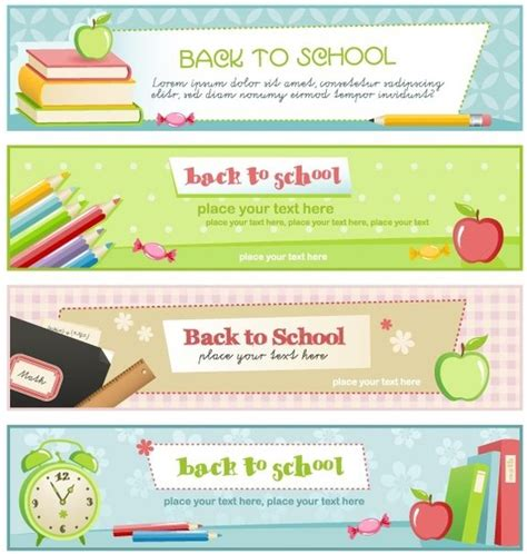 education theme drawing illustration style of education theme banner design