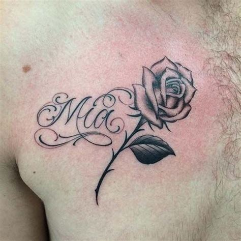 25 beautiful rose tattoo with name ideas on pinterest