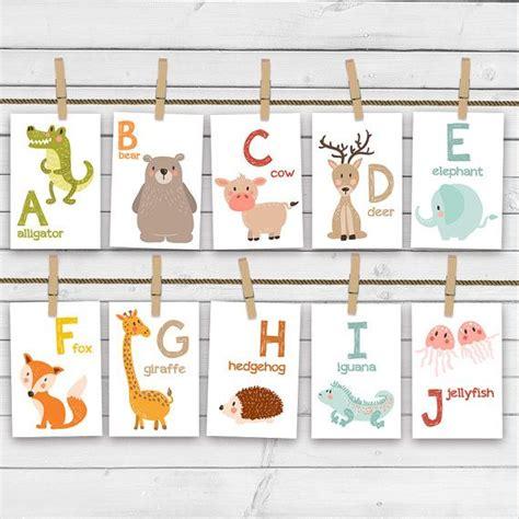 printable alphabet letters nursery animal alphabet card set alphabet flash cards
