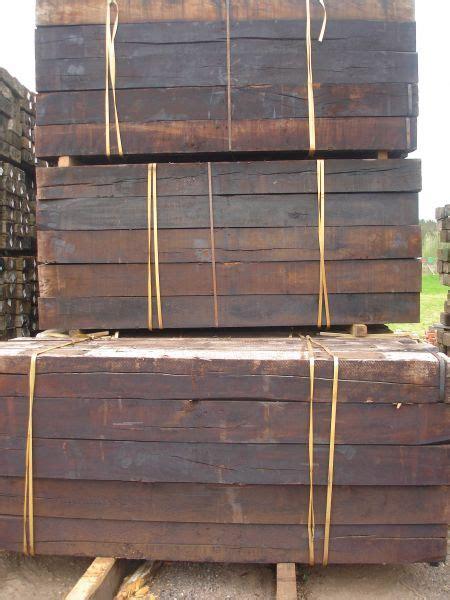 new oak creosote treated railway sleepers