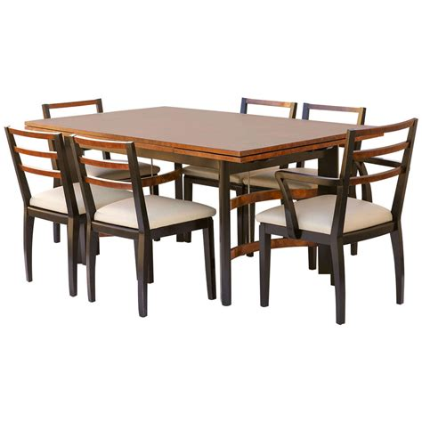 Deco Dining Room Set by Hastings Deco Dining Set By Teague Or Deskey At 1stdibs