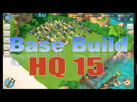 boom beach hq 15 corner base layout [speed build] | doovi