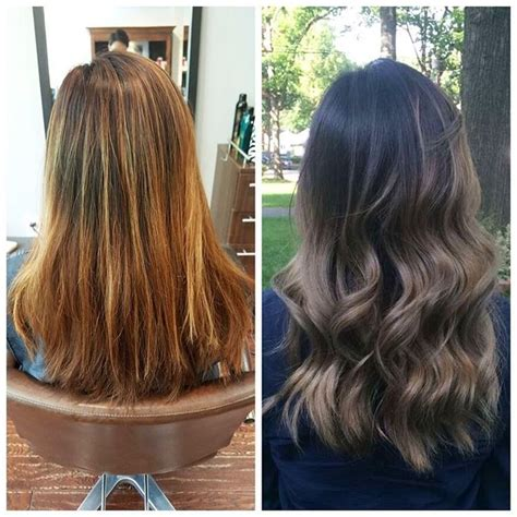 before vs after colour correction i did on my client balayage went brassy balayage went brassy before and after