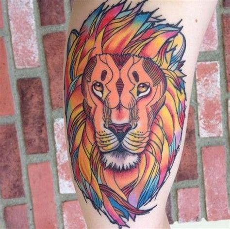 tattoo old school lion tatuaggio leone significato simbologia e galleria di