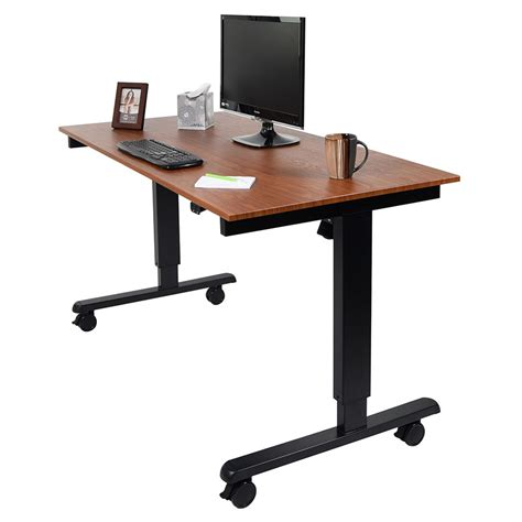 Modern Stand Up Desk Malibu 60 Quot Modern Stand Up Desk Black Teak Eurway