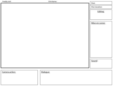 film storyboard template images
