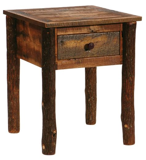 Nightstand Legs by Barnwood One Drawer Nightstand With Hickory Legs From