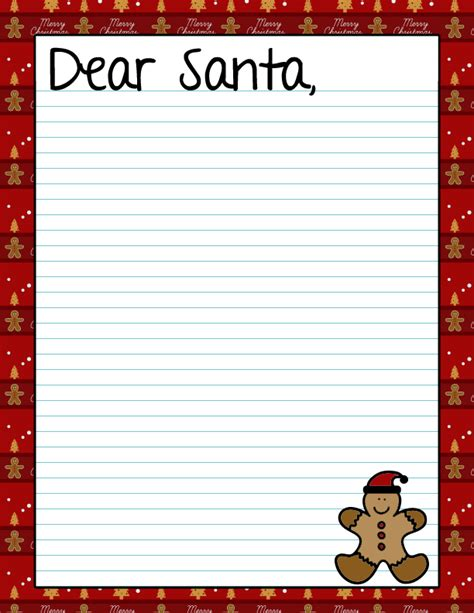 dear santa template kindergarten letter activities and crafts archives page 21 of 29 surviving