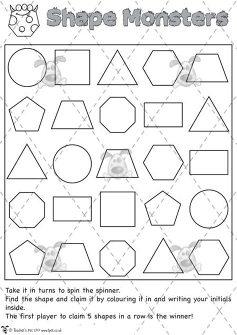 printable games for ks2 23 best images about shape on pinterest flashcard shape