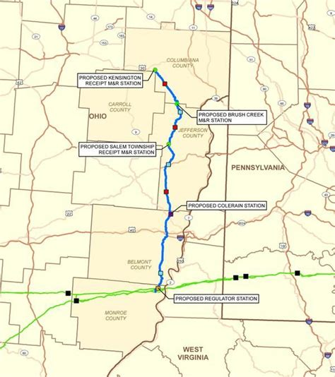 texas eastern transmission map texas eastern transmission s 76 mile open project would extend pipeline in ohio s utica shale