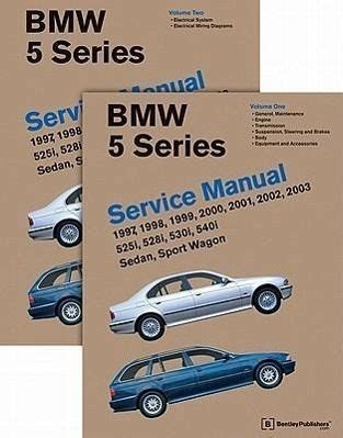 automotive repair manual 2001 bmw 5 series on board diagnostic system bmw 5 series 2 vol e39 service manual 1997 1998 1999 2000 2001 2002 von bentley