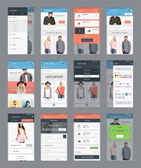 design application psd 50 best free mobile app ui kits psd designmaz