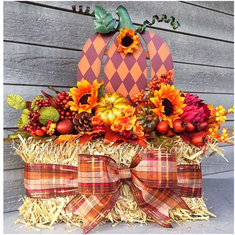 fall hay bale decorating ideas hay bale door decor hay bale center fall door