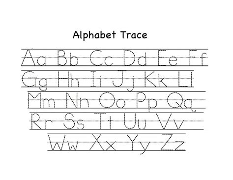 traceable and lowercase alphabet learning printable
