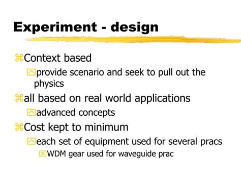 experiment design in engineering ppt queensland university of technology senior physics