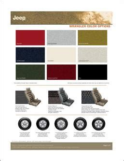 jeep wrangler colors in jeep wrangler color options 2007 by jeep