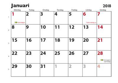 kalender januari 2018 | 2018 calendar printable for free