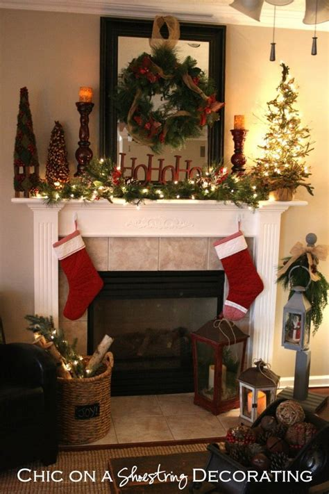 1120 best christmas mantels images on pinterest