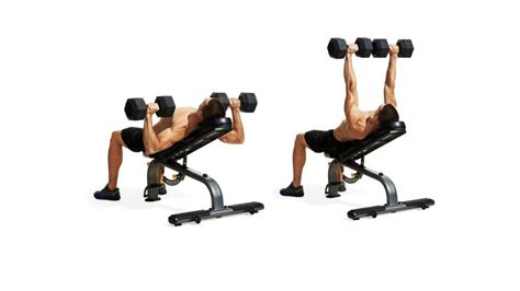 inclune bench press incline dumbbell press men s fitness