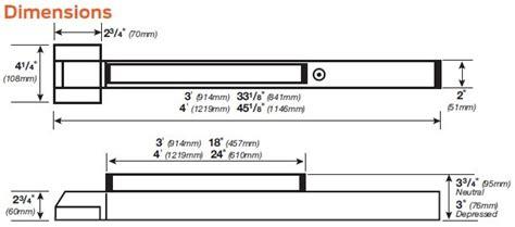 Von Duprin 2227l Sp28 2227l Sp313 Surface Vertical Rod Exit Device 230l Entrance Lever Trim Duprin 2227 Template