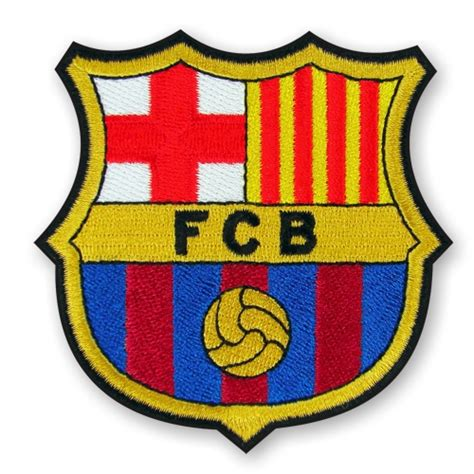 Patch Barcelona soccer embroidered patch fc barcelona 3 15x3 15 inch