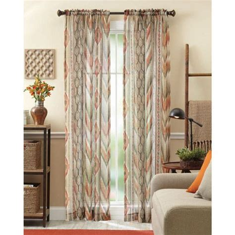 home and garden curtains better homes and gardens ikat sheet curtain panel spice
