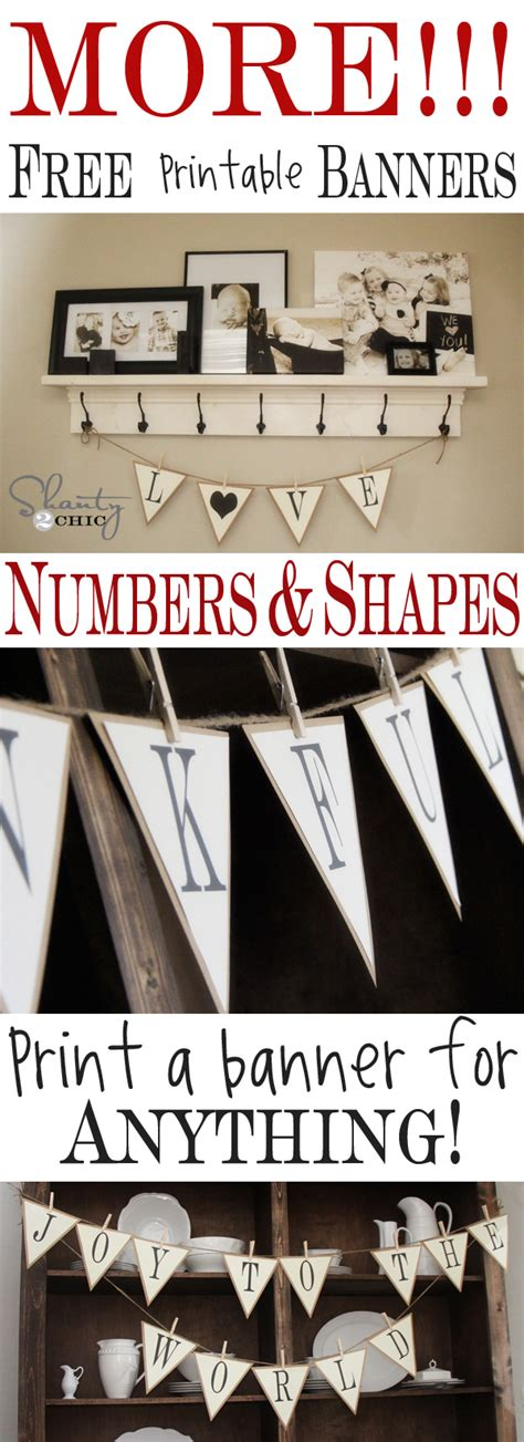 printable numbers for banners more free printable banners numbers shapes shanty