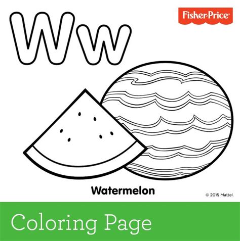 preschool watermelon coloring pages w is for watermelon if your child loves this favorite