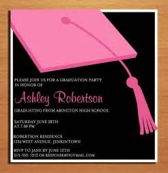 pink clapboard hat graduation invitation cards printable
