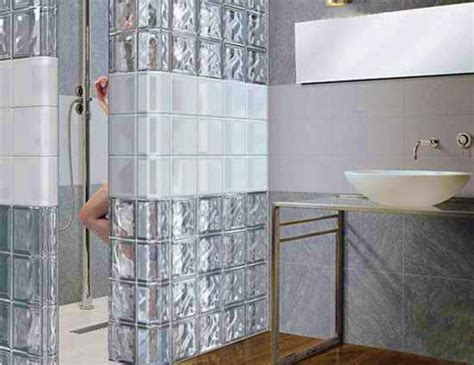 glass cubes for bathroom glass block walls for bright and modern bathroom design