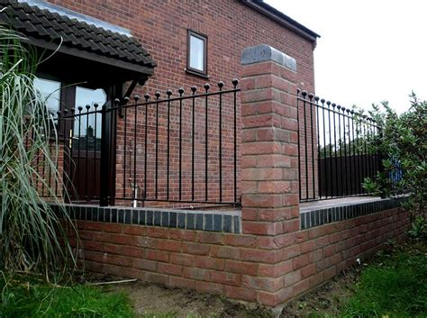 Wall And Railings Gary Cooper Paving Brick Wall With Piers And Railings