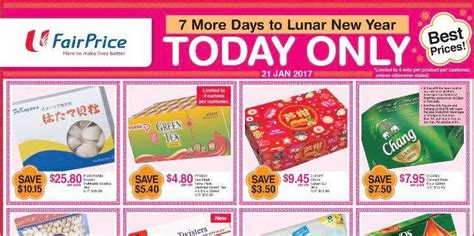 ntuc new year promotion ntuc fairprice singapore 7 more days to lunar new year one