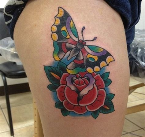 butterfly thigh tattoos 71 pretty butterfly tattoos on thigh