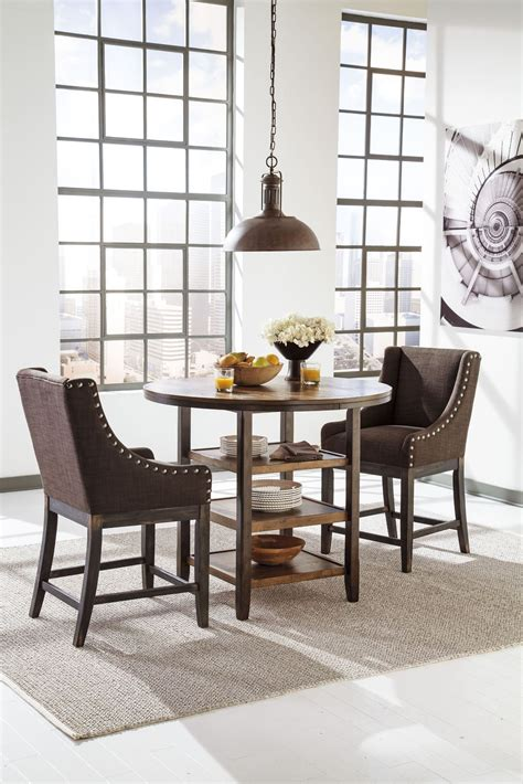 counter height dining room table moriann round counter height dining room table from ashley