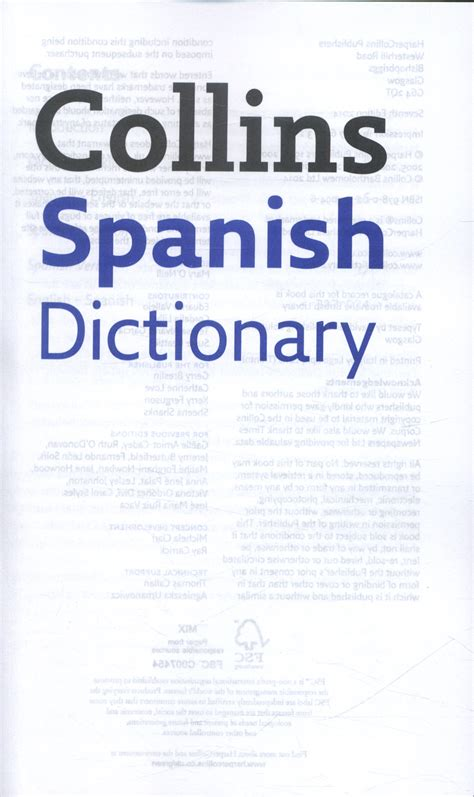 libro collins spanish dictionary complete collins spanish dictionary by collins dictionaries 9780007530946 brownsbfs
