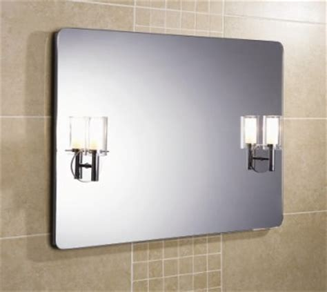 bathroom mirror side lights rachel illuminated bathroom mirror by hib