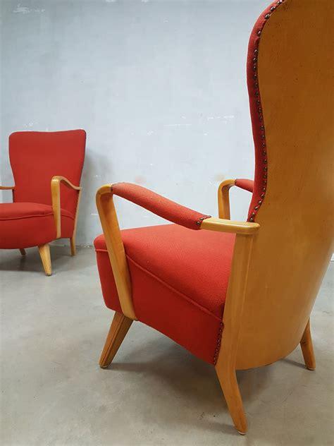vintage mid century ls vintage dutch design fauteuil wingback chair cees braakman