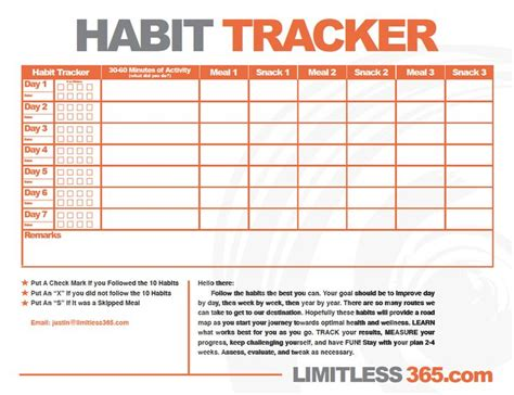 Healthy Habits For Healthy Chart Healthy Habit Tracker Use This Chart To Help Track Those Healthy Habits From Above And To Hold
