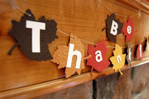 Thanksgiving Handmade Decorations - 14 days to an easy thanksgiving day 4 shopping day