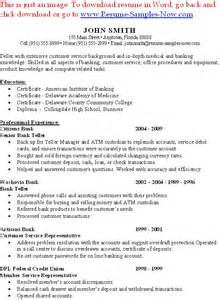 Teller Resume Template by Teller Resume Sles Free Resumes Tips