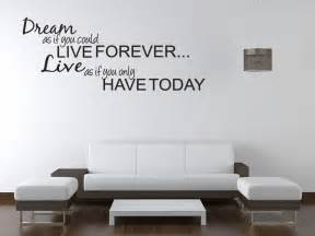 Wall Art Stickers Bedroom Dream Live Girls Teen Bedroom Vinyl Wall Quote Art Decal