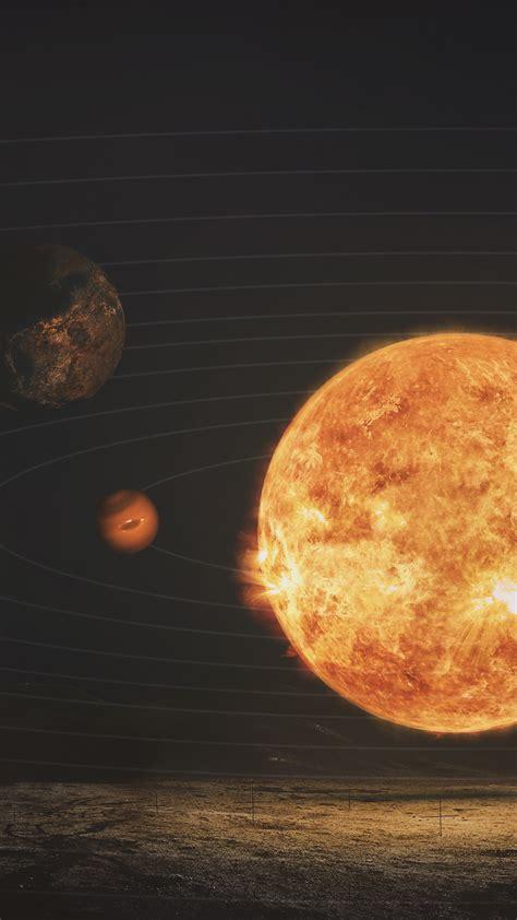 wallpaper solar system sun planets astronaut hd space