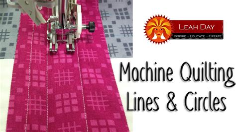 machine quilting tutorial for beginners easy machine quilting tutorial lines circles for
