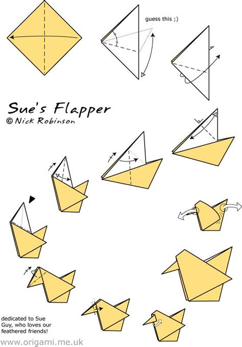 Information About Origami - quot sue s flapper by nick robinson