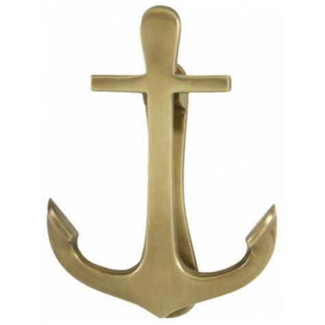 buy antique brass anchor door knocker 8 inch nautical