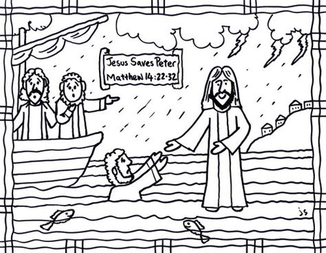 coloring page jesus and walking on water jesus walks on water coloring page and bible card