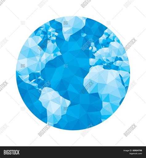 globe maps vector globe map abstract geometric vector illustration in blue