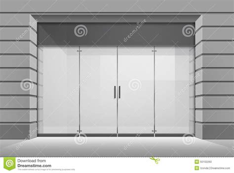 shop front template vector shop boutique store front with big window stock
