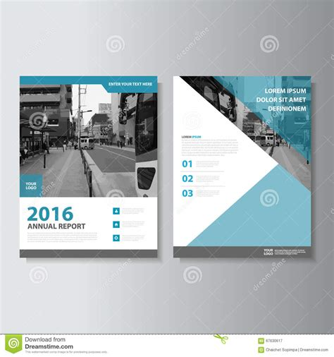 free layout design blue vector magazine annual report leaflet brochure flyer